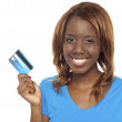 Lets shop and swap the credit card — Stock Photo