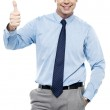 Picture of a male executive showing thumbs up — Stock Photo