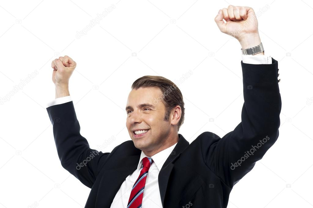 Picture of a great achiever. Businessman of the year  Stock Photo #12769232
