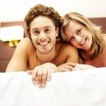 Love couple cuddling — Stock Photo
