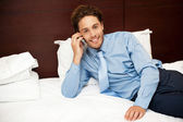 Calm and relaxed businessman resting after work — Stock Photo