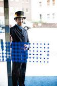 Otel kapıcısı hizmetinizde — Stok fotoğraf