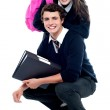 Adorable schoolmates posing together — Stock Photo