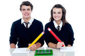 Studious students ready to take down the notes — Stock Photo