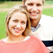 Closeup shot of an attractive love couple — Stock Photo #13735675