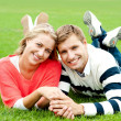 Stock Photo: Couple outdoors enjoying fresh air