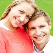 Close up shot of attractive love couple — Stock Photo