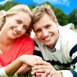 Attractive young couple in love. Great bonding - Stock Photo