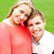 Close up shot of gorgeous young love couple — Stock Photo