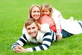 Photogenic family of three — Stock Photo