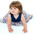 Stock Photo: Cute baby girl crawling