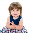 Pretty chubby little girl — Stock Photo #13874786