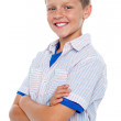 Handsome confident kid posing in style — Stock Photo