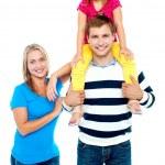 Happy family. Studio shot — Stock Photo