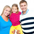 Family portrait on a white background — Stock Photo #14150926