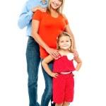 tam uzunlukta portre sevimli Beyaz aile — Stok fotoğraf #14151087