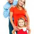 Snap shot of a complete family — Stock Photo