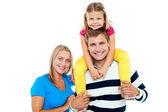 De foto's voor een vrolijke familie genieten van — Stockfoto