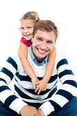 Father and daughter having fun together — Stock Photo