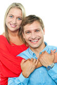 Beautiful young happy smiling couple — Stock Photo