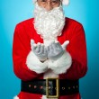 Santa praying peace and happiness for all — Stock Photo