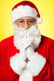 Santa trying to recollect his old memories — Stock Photo