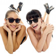 Pretty models having a good time together — Stock Photo