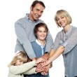 United family pledging their forever support — Stock Photo