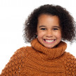 Snap shot of a stylish african girl in winter clothes — Stock Photo