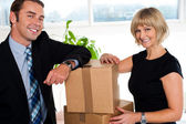 We are relocating to new office — Stock Photo