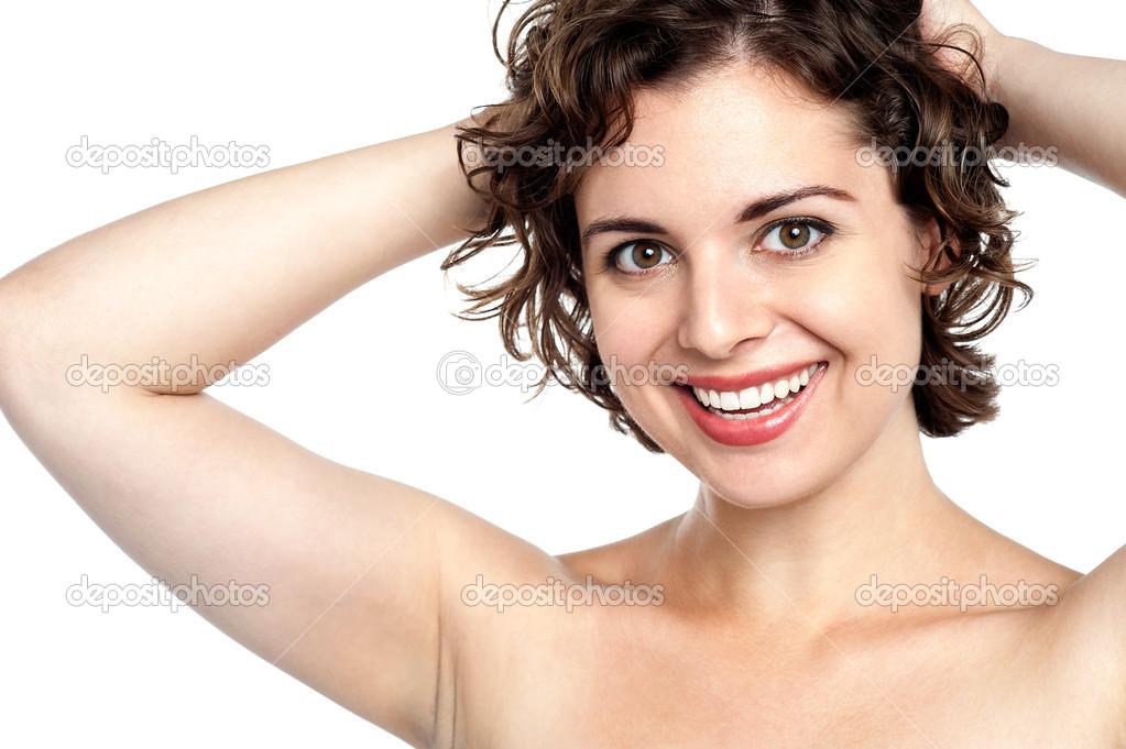 Flirtatious Smile Stock Photo 2