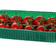 Cherry tomatoes organized in basket — Stock Photo