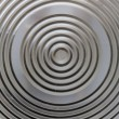 Circular classy aluminium surface — Stock Photo