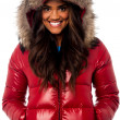 Beautiful girl wearing winter jacket — Stock Photo #24587651