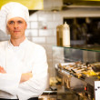 Portrait of confident male chef — Stock Photo
