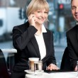Business colleagues enjoying coffee — Stock Photo