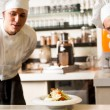 Two chefs working as a team — Stock Photo
