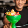Stock Photo: Fruit cocktail served in presentable glass bowl