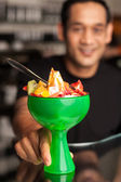 Fruit cocktail served in presentable glass bowl — Stock Photo