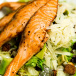 Stock Photo: Fresh salmon steak, closeup image.