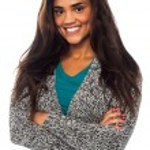 Pretty mixed latin female model posing in style — Stock Photo