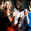 Stock Photo: Carefree couples partying hard