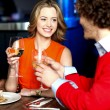 Amorous couple on a romantic date — Stock Photo