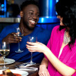 Couple on a romantic date — Stock Photo
