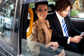 Business on the way to attend meeting — Stock Photo