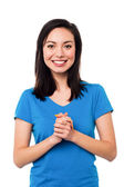 Attractive pretty chinese female model — Stock Photo