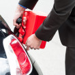 Man refueling his car — Stock Photo