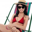 Stock Photo: Pretty smiling bikini woman