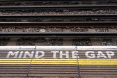 A view of the railway. Please mind the gap. — Stock Photo