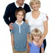 Portrait of a family, studio shot — Stock Photo